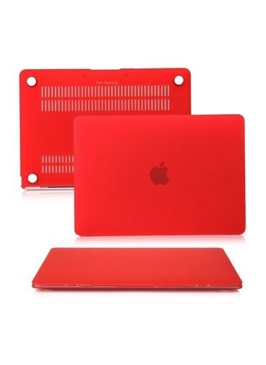 "Mcstorey MacBook Air A1465  A1370 11.6"" Kılıf Kapak Koruyucu Hard Incase Mat Kırmızı"